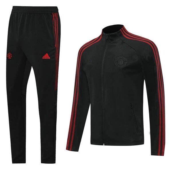 Спортивный костюм Манчестер Юнайтед чёрный сезон 2020-2021